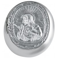 PB439   Ari D Norman Sterling Silver Embossed Rosary Bead Case