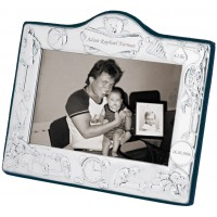 FR681   Baby Photo Frame with Teddy and Toys Design 13cm x 8cm Sterling Silver Ari D Norman