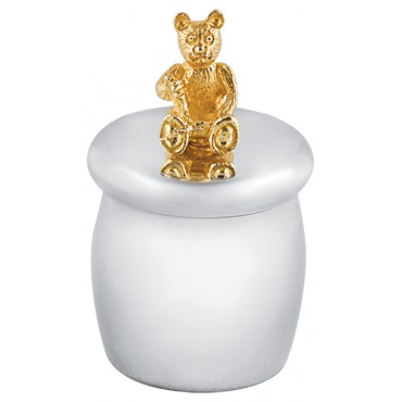 GT350   Tooth Fairy Box with Gold Plated Teddy Bear Sterling Silver Ari D Norman