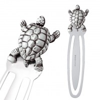 GT2288   Moveable Turtle Bookmark Sterling Silver Ari D Norman