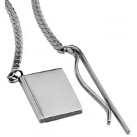 GT85   Square Chain Bookmark Sterling Silver Ari D Norman