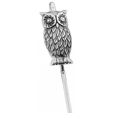 GT86   Owl Motif Spine Bookmark Sterling Silver Ari D Norman