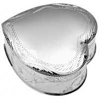 PB536   Ari D Norman Sterling Silver Engraved Heart Ring Box