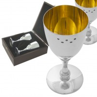 BOX142 - Pair of wine goblets