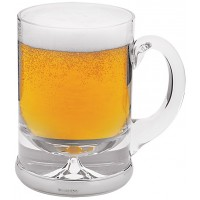 GT2126   Beer Glass with Mounted Sterling Silver Base Ari D Norman
