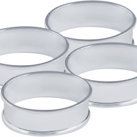 BOX54   Plain Oval Napkin Ring Set Sterling Silver Ari D Norman
