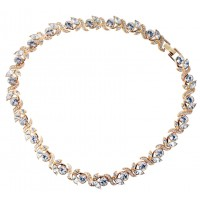 JNK10 - Gold plated Art Deco style necklace