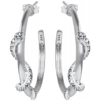 EA607   Snake Hoop Earrings Sterling Silver Ari D Norman