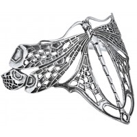 BE420    Art Nouveau Dragonfly Bangle Sterling Silver Ari D Norman
