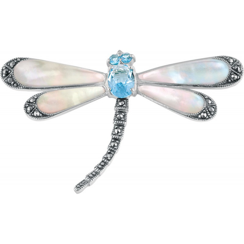 Sterling Silver Dragonfly Brooch & Gift Box