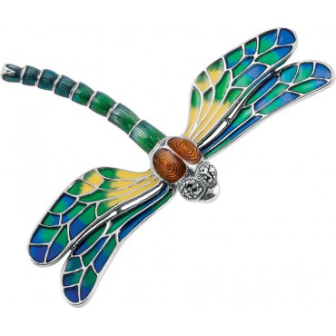 B390 Dragonfly Brooch Sterling Silver