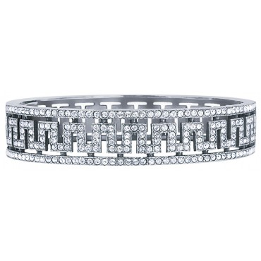 BT205   Crystal Bangle Sterling Silver Ari D Norman