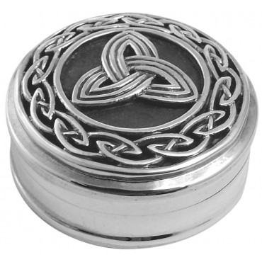 PB547 Ari D Norman Sterling Silver Celtic Design Pill Box