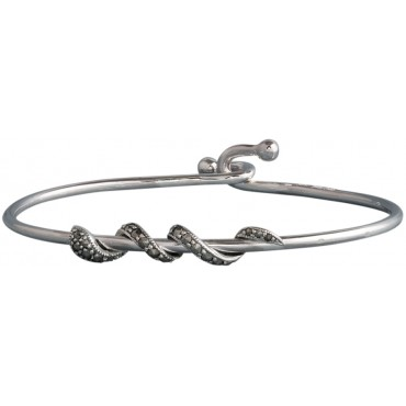 BE432   Snake Bangle Sterling Silver Ari D Norman