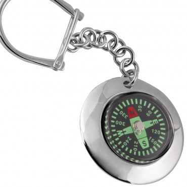 K429   Compass Key Ring Sterling Silver Ari D Norman