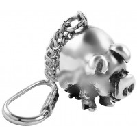 KPT410   Pig Key Ring Sterling Silver Ari D Norman