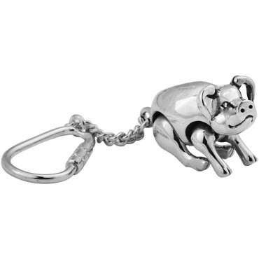 KPT418   Movable Pig Key Ring Sterling Silver Ari D Norman