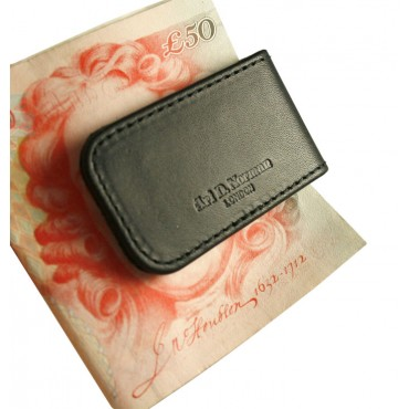 LTHR109 Croco Leather Magnetic Money Clip