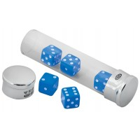 GT8   Small Toughened Glass Tube with Five Dice Sterling Silver Ari D Norman