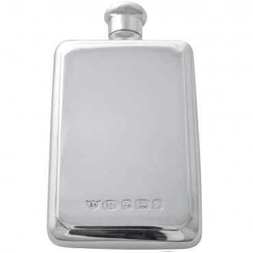 GT2083   Hip Flask with Screw Top Sterling Silver Ari D Norman