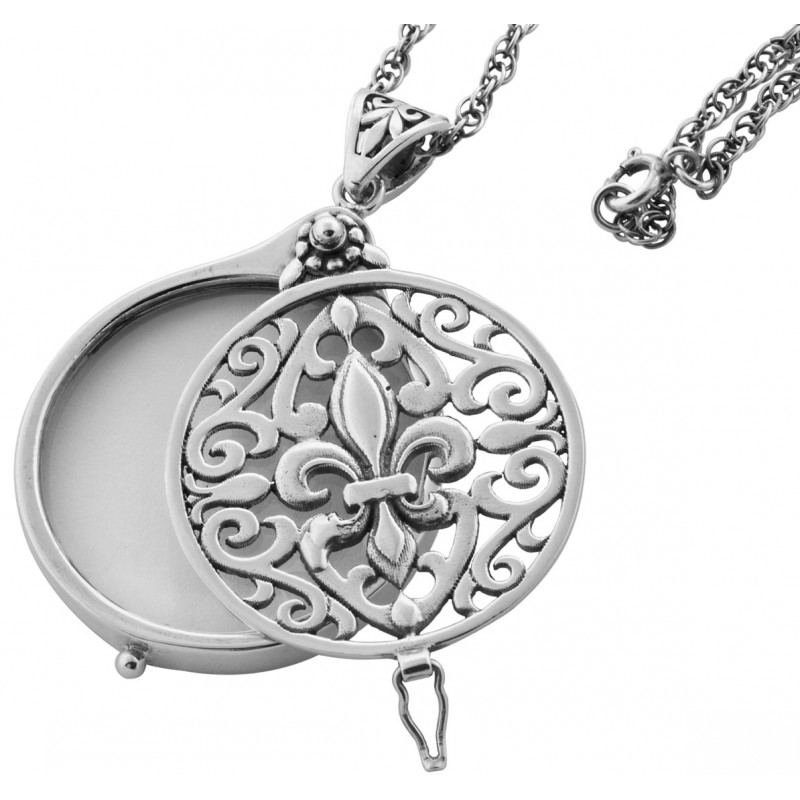 Pt282 magnifying glass pendant on chain sterling silver ari d norman pt282 magnifying glass pendant on chain sterling silver ari d norman mozeypictures Image collections