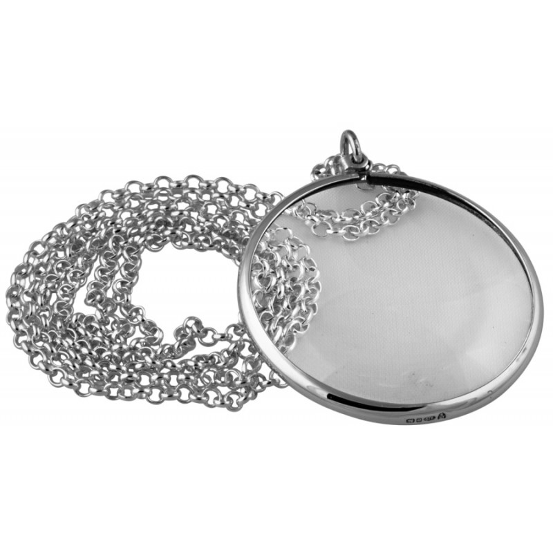 Pt422 plain magnifying glass pendant on chain sterling silver ari d pt422 plain magnifying glass pendant on chain sterling silver ari d norman mozeypictures Image collections
