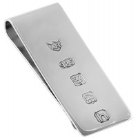 GT117   Feature Hallmark Money Clip Sterling Silver Ari D Norman