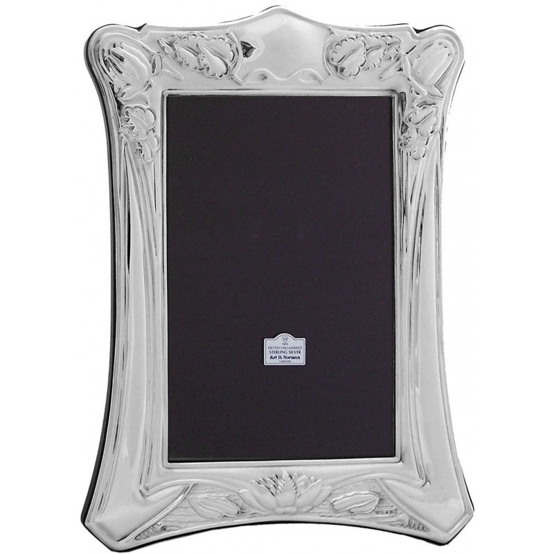 925 Solid Sterling Silver Art Nouveau Photo Frame made in UK Photo ...
