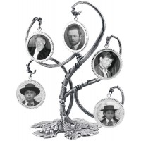 GT49   Family Tree Miniature Photo Frame Holder Sterling Silver Ari D Norman