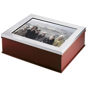 GT98   Wooden Photo Frame Keepsake Box Sterling Silver Ari D Norman