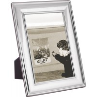FR652   Plain Photo Frame With Wooden Back 20cm x 25cm Sterling Silver Ari D Norman