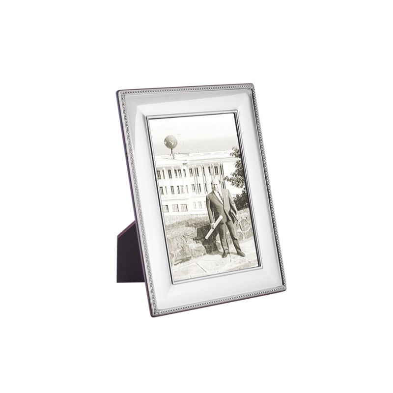 FR703 Beaded Photo Frame With Wooden Back 6cm x 9cm Sterling Silver ...