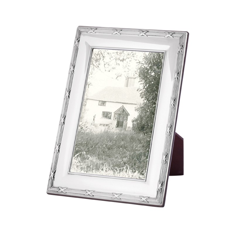 FR714 Ribbon And Reed Photo Frame With Wooden Back 10cm x 15cm ...