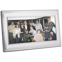 FR729   Plain Panoramic Photo Frame With Wooden Back 25cm x 10cm Sterling Silver Ari D Norman