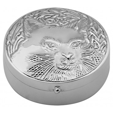 PB526 Ari D Norman Sterling Silver Cat Pill Box