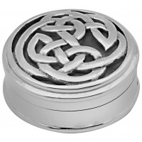 PB546 Ari D Norman Sterling Silver Celtic Pill Box