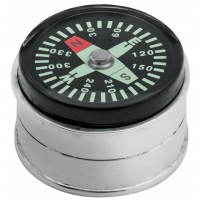 PB593   Ari D Norman Sterling Silver Compass Pill Box