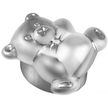 PB542   Ari D Norman Sterling Silver Teddy Bear Pill Box