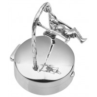 PB566   Ari D Norman Sterling Silver Pill Box with Fairy on Swing