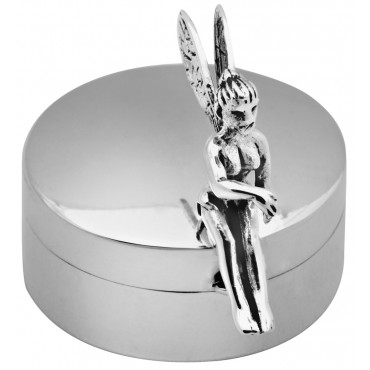 PB605   Ari D Norman Sterling Silver Fairy Pill Box