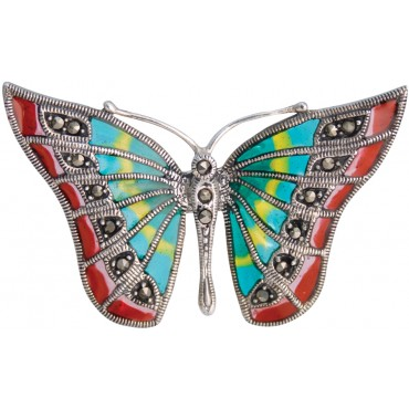 RG306   Butterfly Ring With Enamel Sterling Silver Ari D Norman