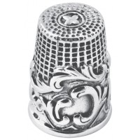 GT104   Victorian Style Swirl Pattern Thimble Sterling Silver Ari D Norman