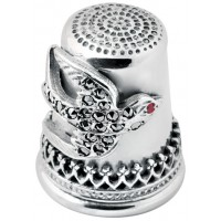 GT212   Marcasite Swallow Thimble Sterling Silver Ari D Norman