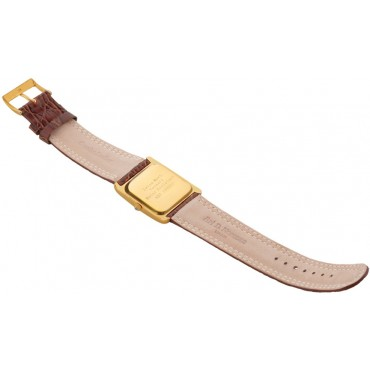 WTCH16   Gold Plated Sterling Silver (Vermeil) Men's Watch with Brown Leather Strap Ari D Norman