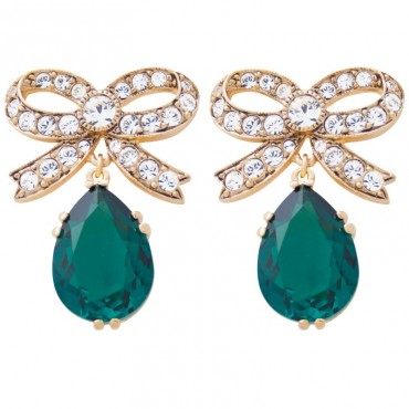 EC2   Gold Plated Elizabethan Style Crystal Earrings Jewelari of London