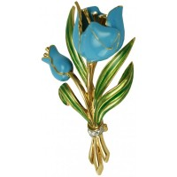 JB71   Gold Plated Tulip Brooch Jewelari of London