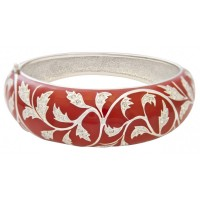 JBE19   Rhodium Plated and Enamel Bangle Jewelari of London
