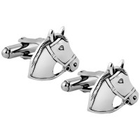 CU497 Ari D Norman Sterling Silver Horse Head Cufflinks