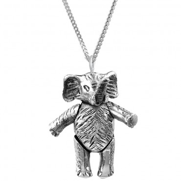 PT511   Moving Elephant Pendant on Chain Sterling Silver Ari D Norman