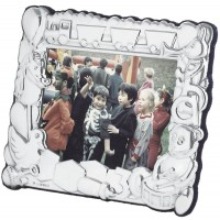 FR664   Baby Photo Frame Wth Train And Toy Design 10cm x 8cm Sterling Silver Ari D Norman